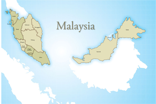"""西马州府包括玻璃市、槟榔、吉兰丹、登加奴、霹雳、吉打、彭亨、雪兰峨、吉隆坡、马六甲、森美兰和柔佛,东马州府包括沙巴、砂拉越。 多文化的马来西亚人和谐相处、互补互助,发扬共享特质。 马来西亚族群有马来人、华人和印度人。马来半岛和东马的土著统称为""""原住民""""。马来西亚的官方宗教是伊斯兰教。60%的马来西亚人是穆斯林。即祷告时间,通常都能听到祈祷。马来西亚大多数地方,通过唤礼声提醒民众日常祈祷次数。晨祷(Fajr)必须在日出前2小时(11:114, 24:58)。中午祈祷(Dhuhr)应当在"""