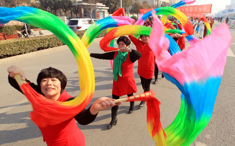 淮北民俗闹新春 百姓欢喜过大年
