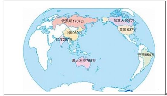 2017世界人口排名、人均国土面积排名、20大人口大国及世界国土面积排名